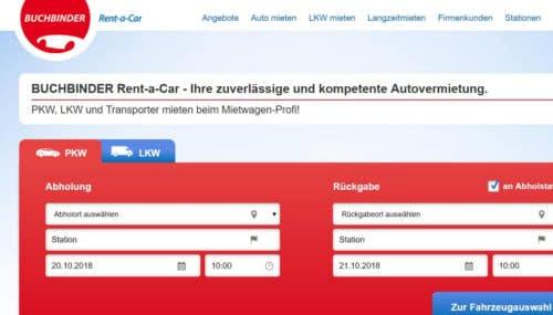 Hier sparen Sie beim Autoverleih mit einem Buchbinder-Gutscheincode