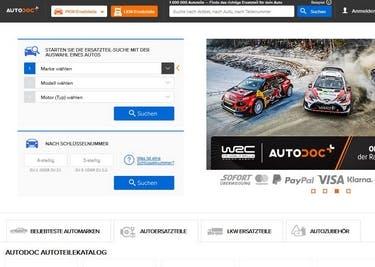 Startseite von AUTODOC