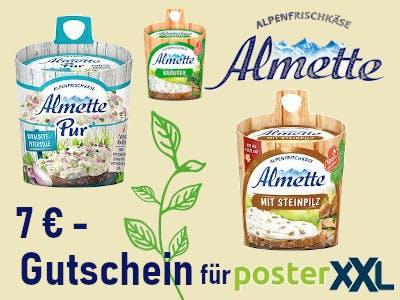 Almette Fäßchen 7 Euro.Gutschein sicher Fotobuch gewinnen