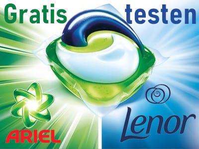 Ariel und Lenor Pods gratis testen