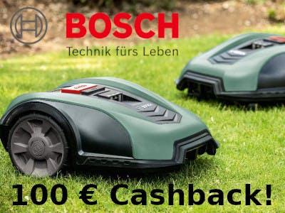 Bosch Indego Rasenmäher 100 € zurück
