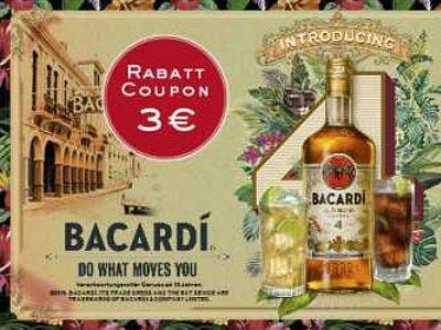 3€ auf BACARDÍ Cuatro sparen