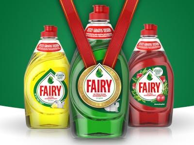 Grünes Bild mit drei Fairy Flaschen