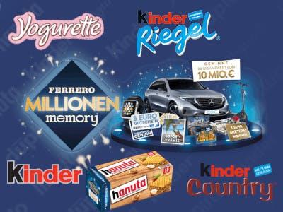 Dunkelblaues Bild mit einigen Kinder-Logos, mittig im Bild das Aktionslogo und das Bild mit den Gewinnmöglichkeiten