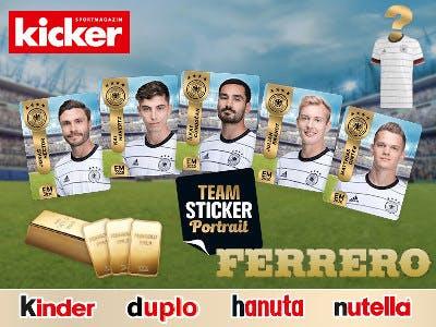 Ferrero Teamsticker Gold gewinnen