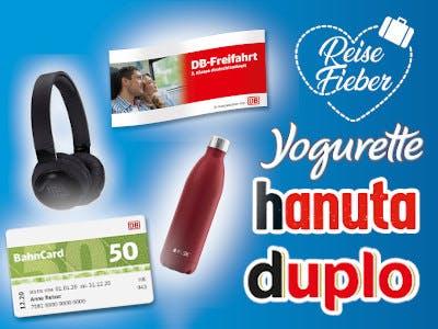 Ferrero Reisefieber Gewinnspiel duplo hanuta yogurette