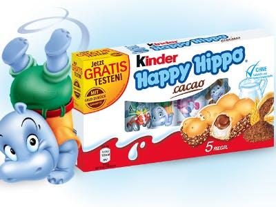 Geld-zurück-Aktion kinder Happy Hippo