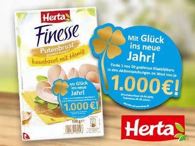 Herta 1000 Euro das goldene Kleeblatt