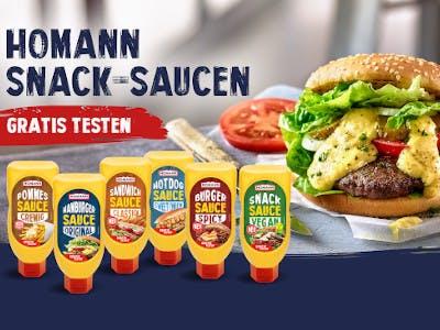 Homann Snacksaucen gratis testen
