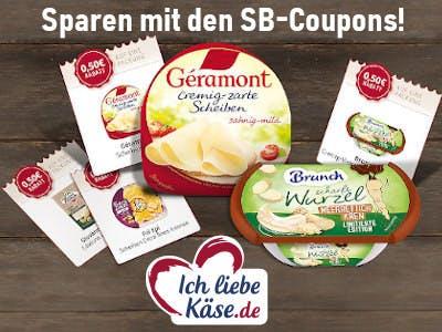 Ich liebe Käse sparen mit SB-Coupons