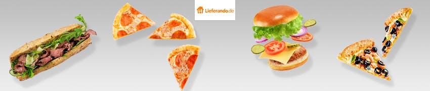 Buger und Pizza