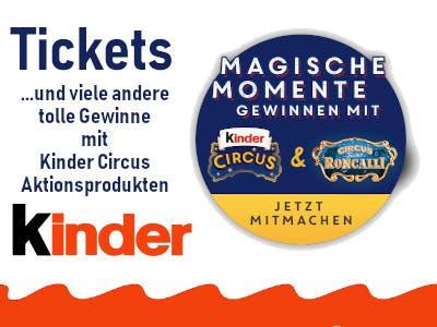 Kinder Circus Gewinnspiel Tickets Merchandising