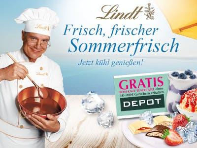 Lindt Sommertafel kaufen - Depot Gutschein gewinnen