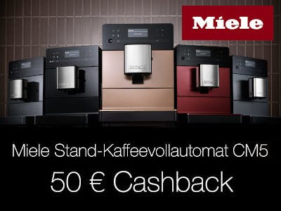 Miele Kaffeevollautomat CM5 - 50 Euro Cashback