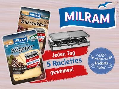 Milram Raclette Gewinnspiel