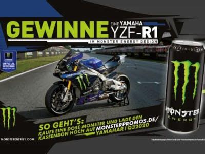 Monster Logo und Yamaha Motorrad