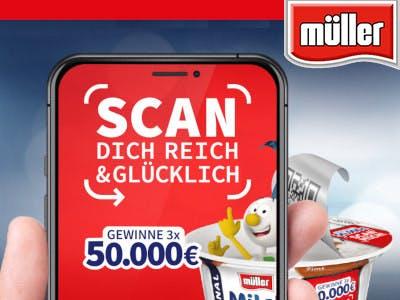 Müller Milchreis Scan Dich reich