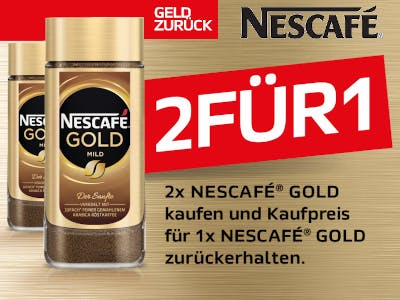 Nescafé Gold zwei für eins