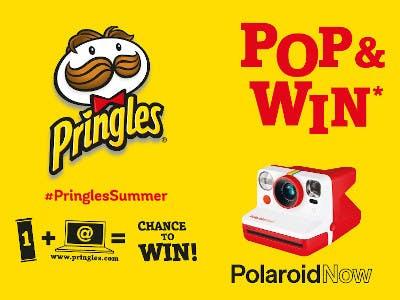 Pringles kaufen, Polaroid Kamera gewinnen