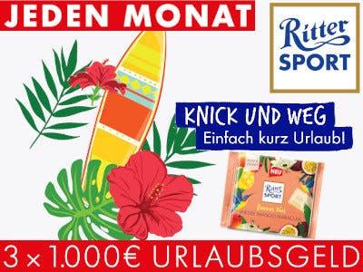 Ritter Sport Gewinnspiel Urlaubsgeld
