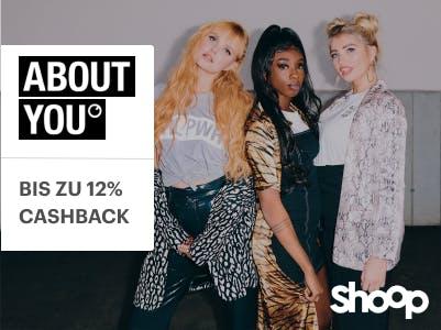 Bis zu 12% Cashback bei ABOUT YOU + 10€ Shoop.de-Gutschein sichern