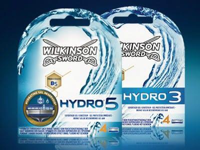 3€ Cashback auf Hydro 3 und Hydro 5 Rasierklingen