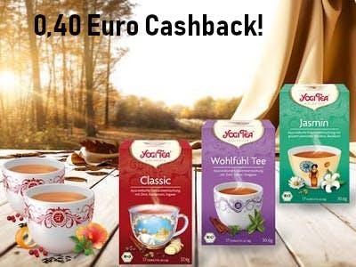 Yogi Tea 0,40 Euro Cashback