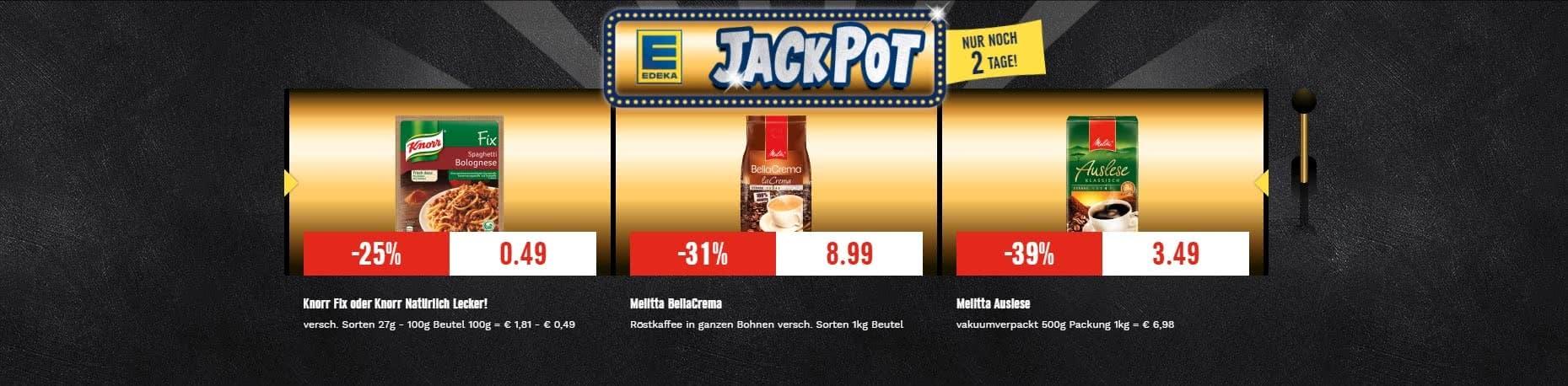 Jackpot Angebote für eine beispielhafte Woche