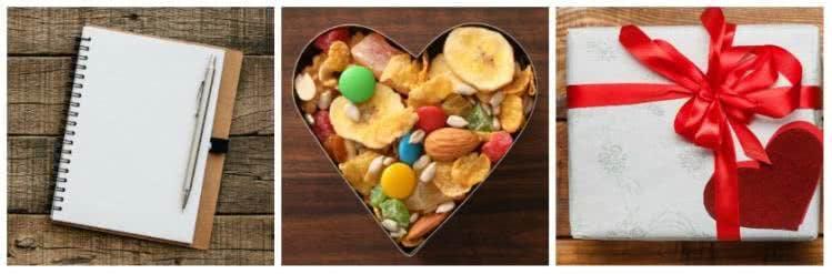 Notizbücher, Süßigkeiten und Gutscheine: auch ältere Schüler freuen sich über Geschenke zum Schulanfang