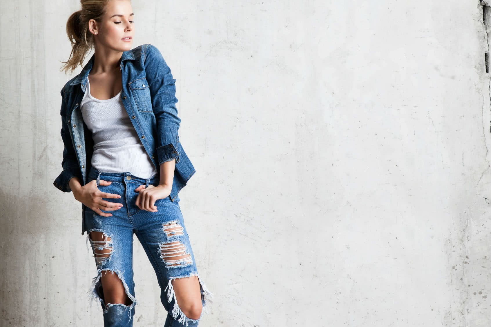 Allover Denim Look bei Frauen