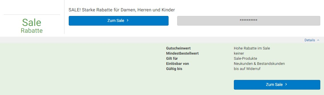 Rabatt im Peek & Cloppenburg-Sale