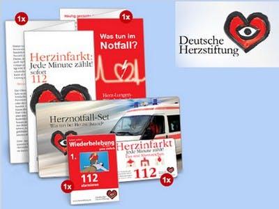 Herznotfall-Set kostenfrei bestellen