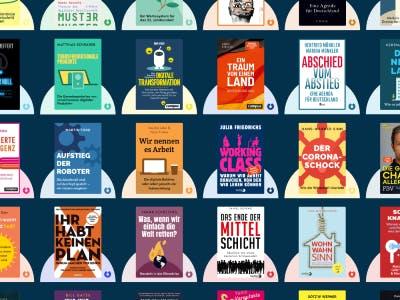 Viele Buch-Cover