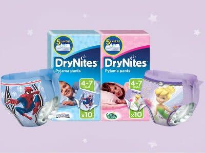 DryNites Pyjama-Nachthöschen gratis anfordern