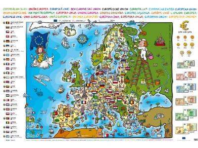 Bunte Europakarte