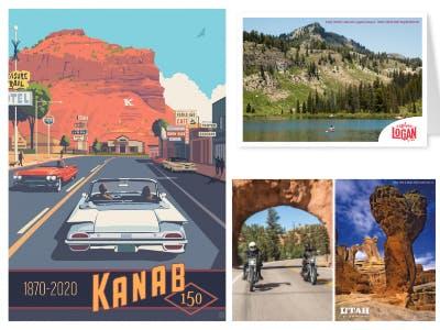Postkarten Motive aus Utah