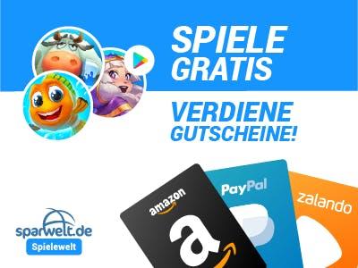 Amazon Gutschein, Paypal Gutschein, Zalando Gutschein verdienen mit mobile Games