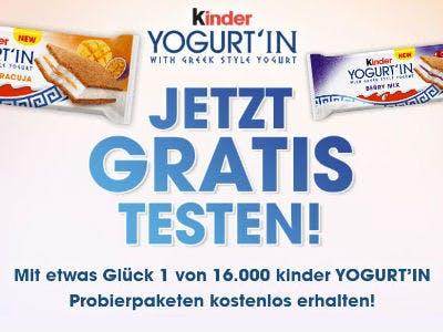Kinder YOGURT'IN gratis probieren