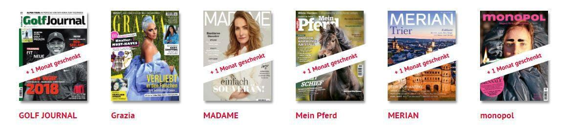 Zeitschriften-Abos gratis