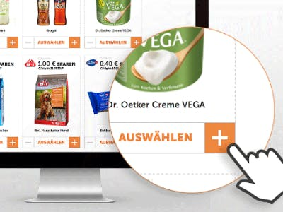 Coupons auswählen