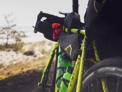 Fahrrad mit vielen Taschen