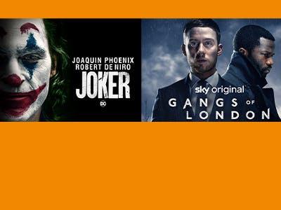 """Joaquin Pheonix in der """"Joker"""" oder Sky Serien, wie """"Gangs of London"""""""