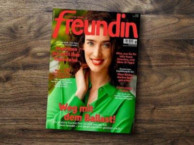 """Zeitschrift """"Freundin"""" 1 Jahr für 85,80€ + 80€ Prämie"""