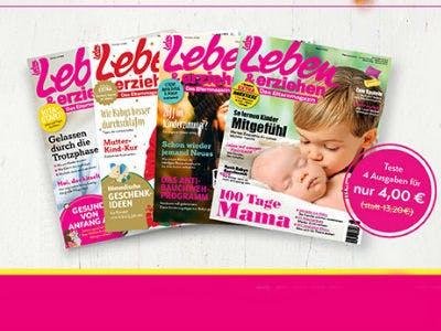 """4 Hefte """"Leben & erziehen"""" für nur 4€"""