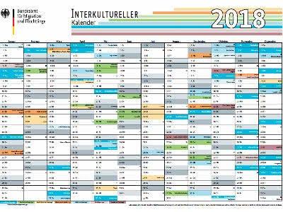 Kostenloser Wandkalender 2018
