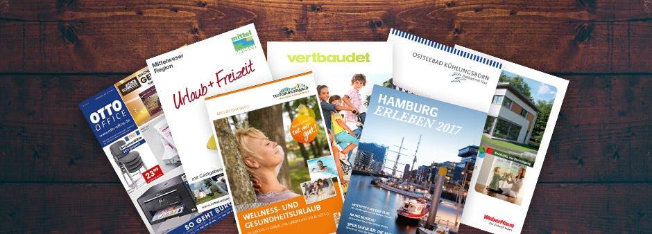 Gratis Kataloge, Broschüren und Infomaterial