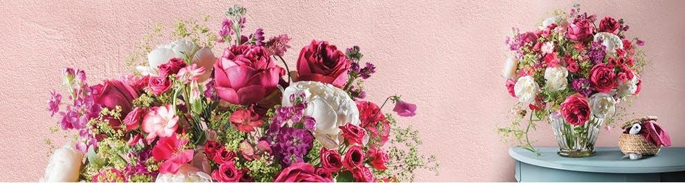 Verschiedene Angebote an Blumensträußen