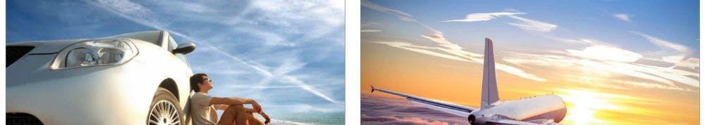 Egal ob Flugzeug oder Mietwagen - hier wirst du fündig