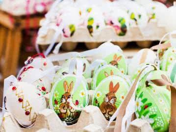 Mit Tieren verzierter Ostereier sind besonders beliebt bei Kindern
