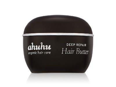 Ein Tiegel AHUHU DEEP REPAIR Hair Butter auf weißem Hintergrund